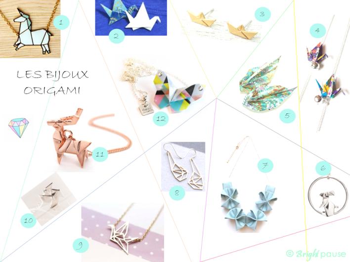 Bijoux origami - Bright Pause