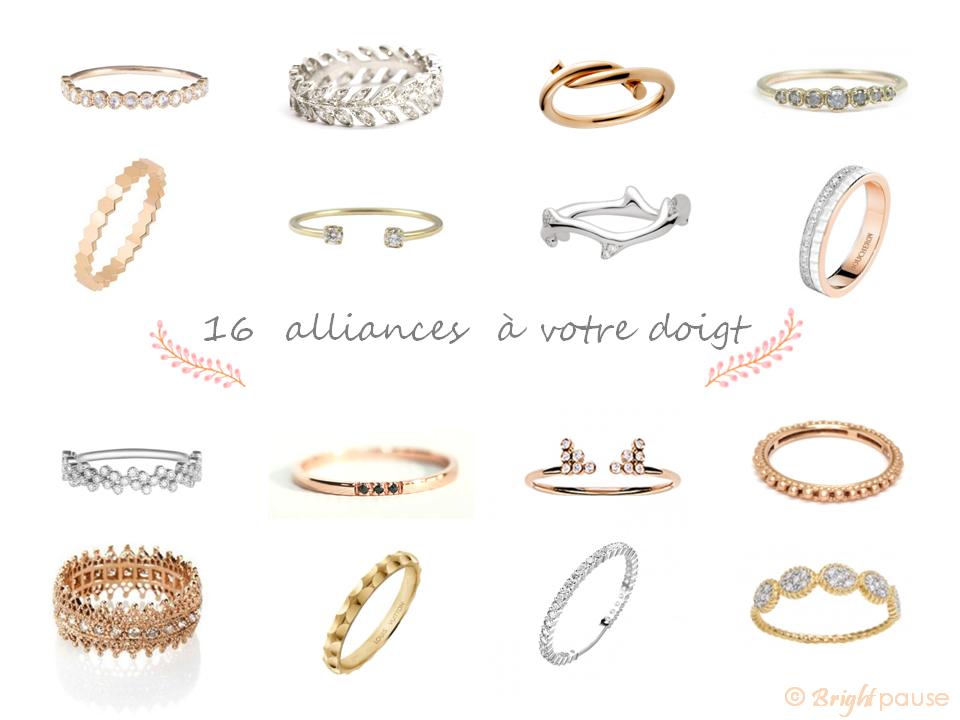 16 Alliances Pour Un Joli Mariage Bright Pause