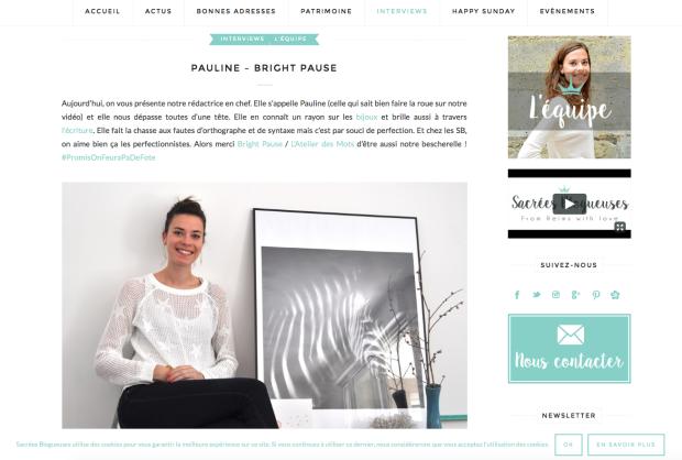 Iterview Pauline_Bright Pause_Sacrées Blogueuses
