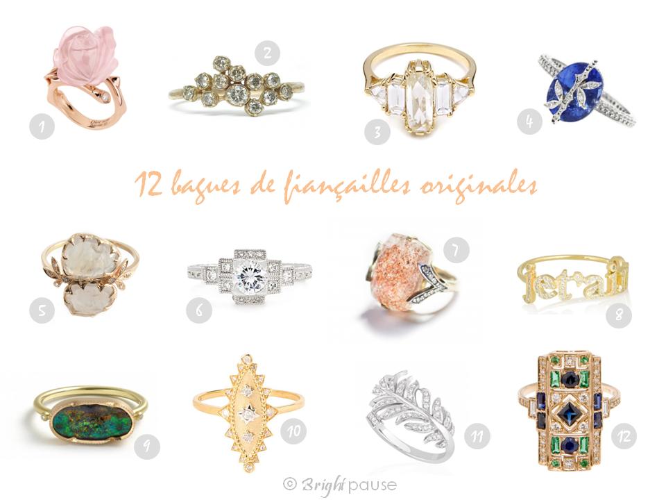 Sehr 12 bagues de fiançailles originales pour dire oui ! | Bright Pause YP64