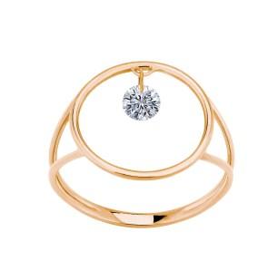 LA BRUNE & LA BLONDE, Bague Excentrique 2, diamant brillant, or rose 18kt, 1.130€