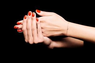 LA BRUNE & LA BLONDE, bracelet 360°, diamant brillant 0,20ct, or rose 18kt