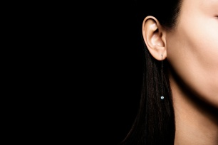 LA BRUNE & LA BLONDE, pendants d'oreilles 360°, 2 diamants brillant 0,20ct chacun, or rose 18kt